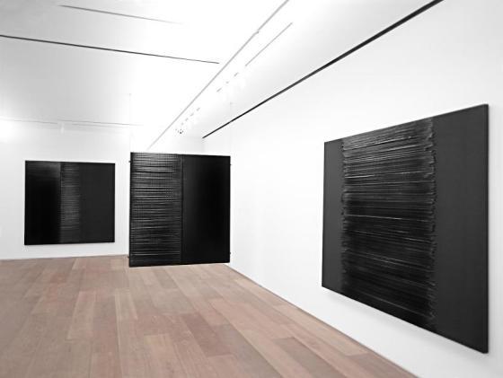 Exposition Soulages, vue de l'exposition 2e étage, 2014.