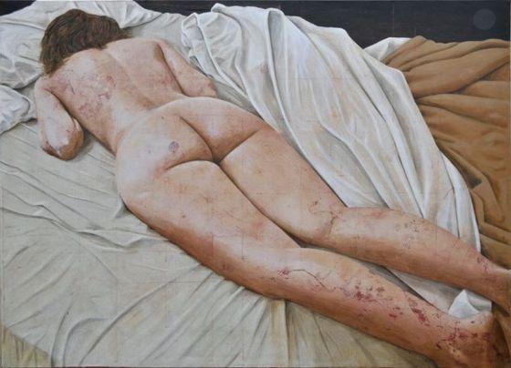 Daniel Garcia, Somebody IV, 2013, acrylique sur toile, 152 x 210 cm