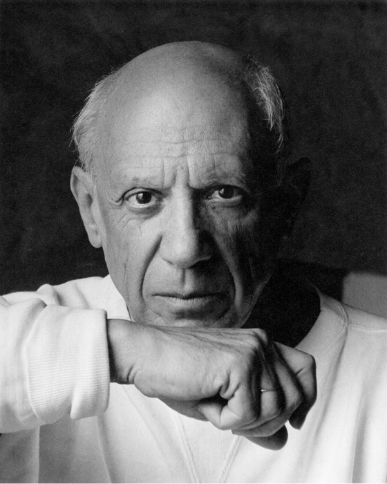 Pablo Picasso, 1954,  (Photo by Arnold Newman/Getty Images)