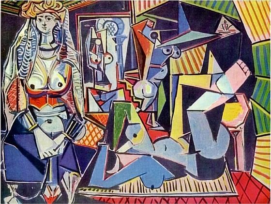 Pablo Picasso, Les femmes d'Alger, 1955, huile sur toile, 114 x 146 cm, collection privée.
