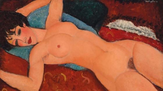Modigliani, Reclining Nude, de 1917-18, Collection Liu Yiqian.