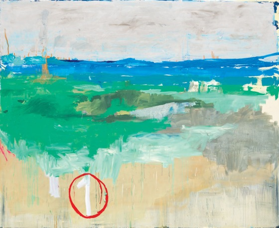 Marina Rheingantz, Um, 2014, huile sur toile, 200 x 245 cm. Rubell Family Collection